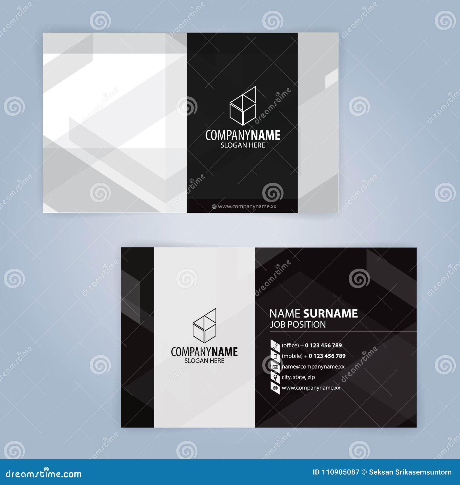 Dynamique Modle De Carte Visite Dentreprise Moderne Clip