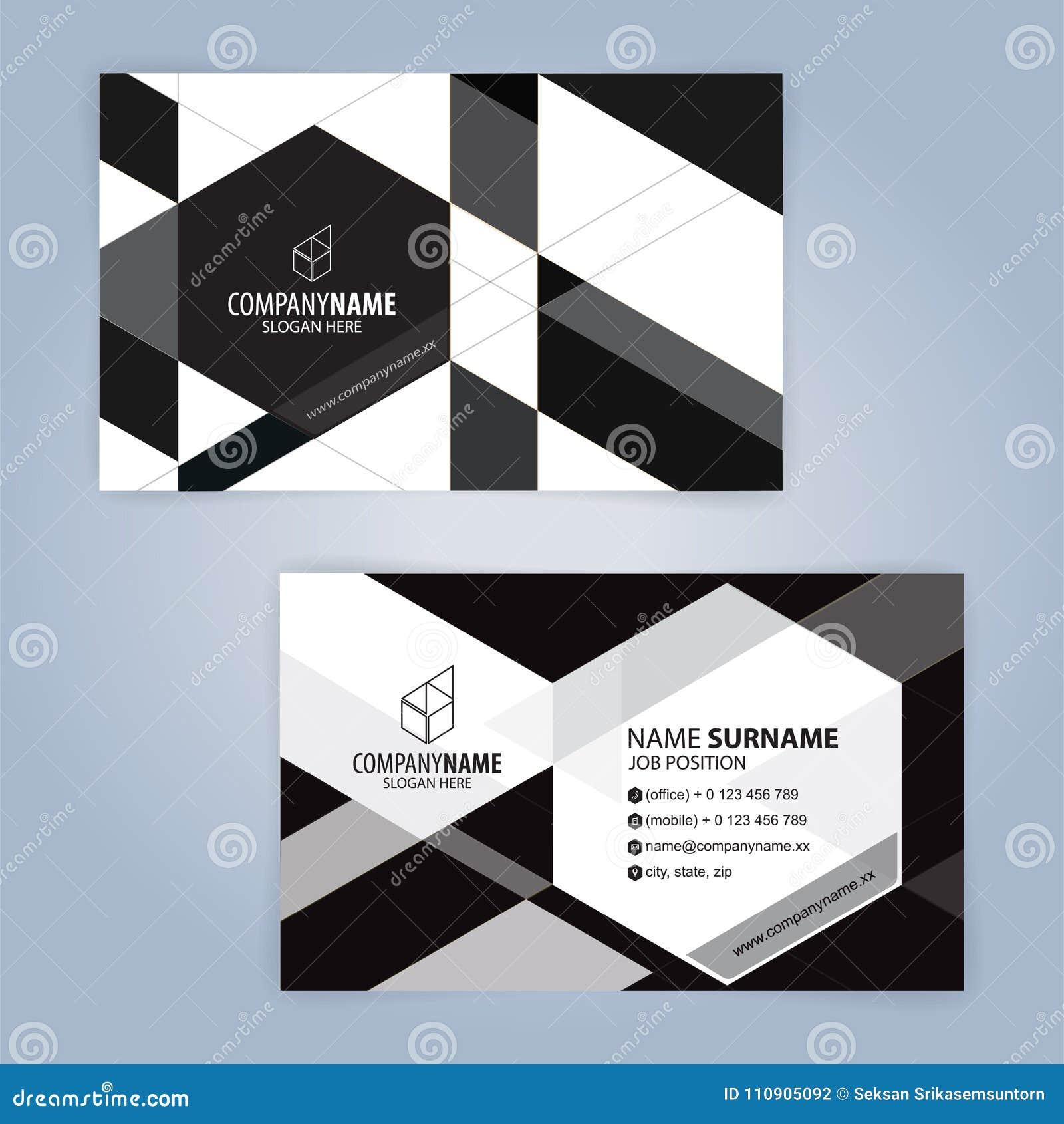 Calibre Moderne Blanc Et Noir De Carte Visite Professionnelle