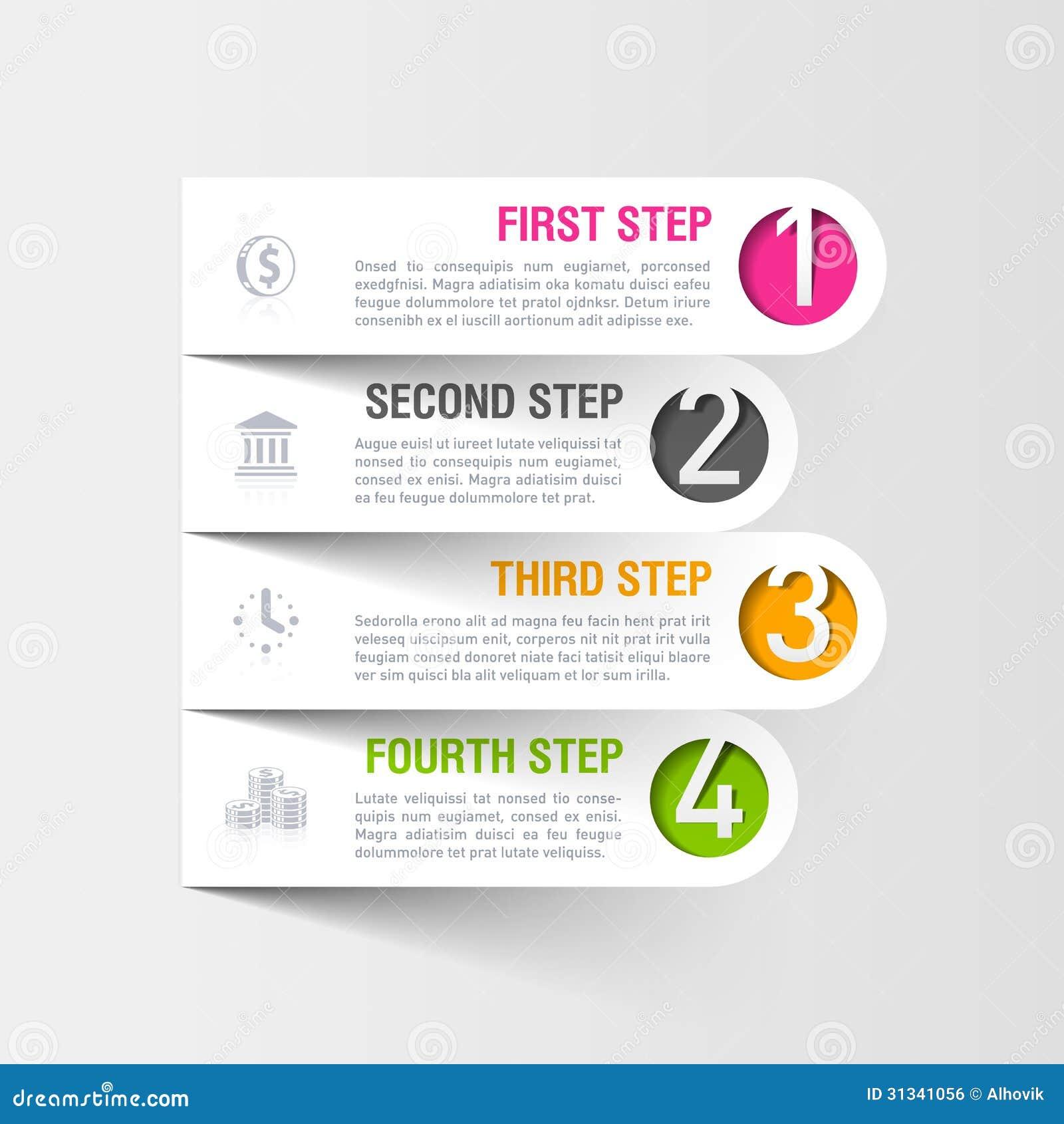 Calibre moderne d infographics d affaires