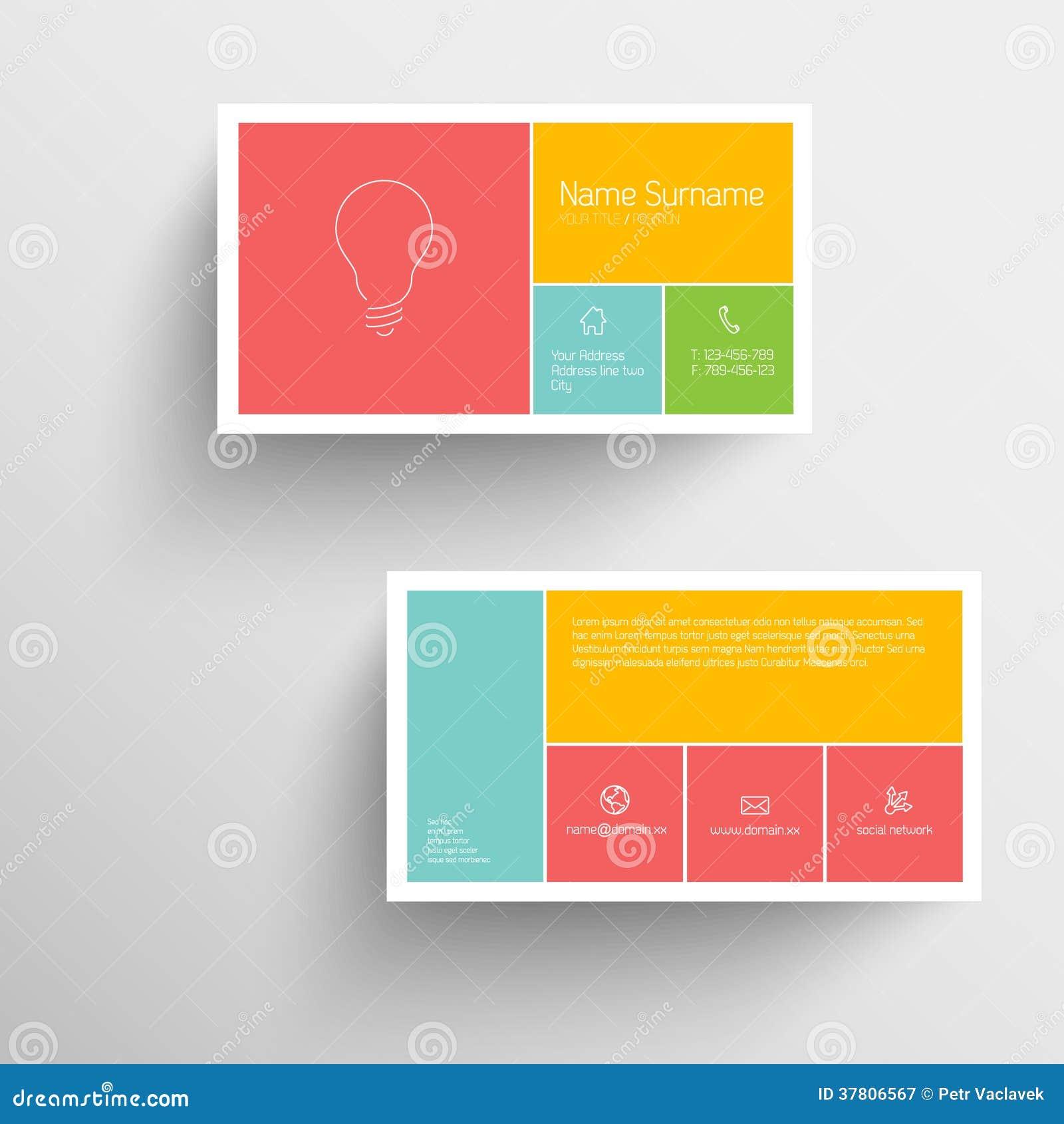 Calibre Moderne De Carte Visite Professionnelle Avec L Interface Utilisateurs Mobile Plate