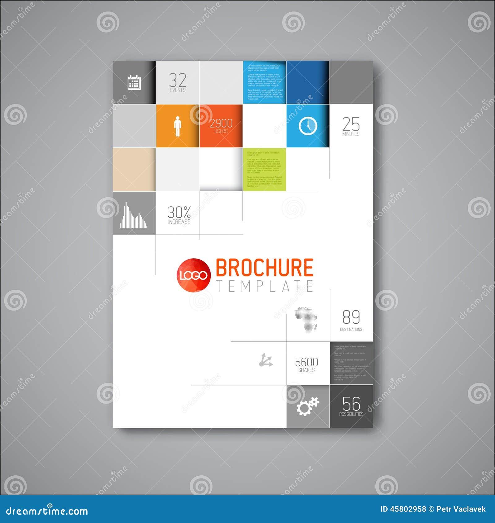 Calibre moderne de conception de brochure d abrégé sur vecteur