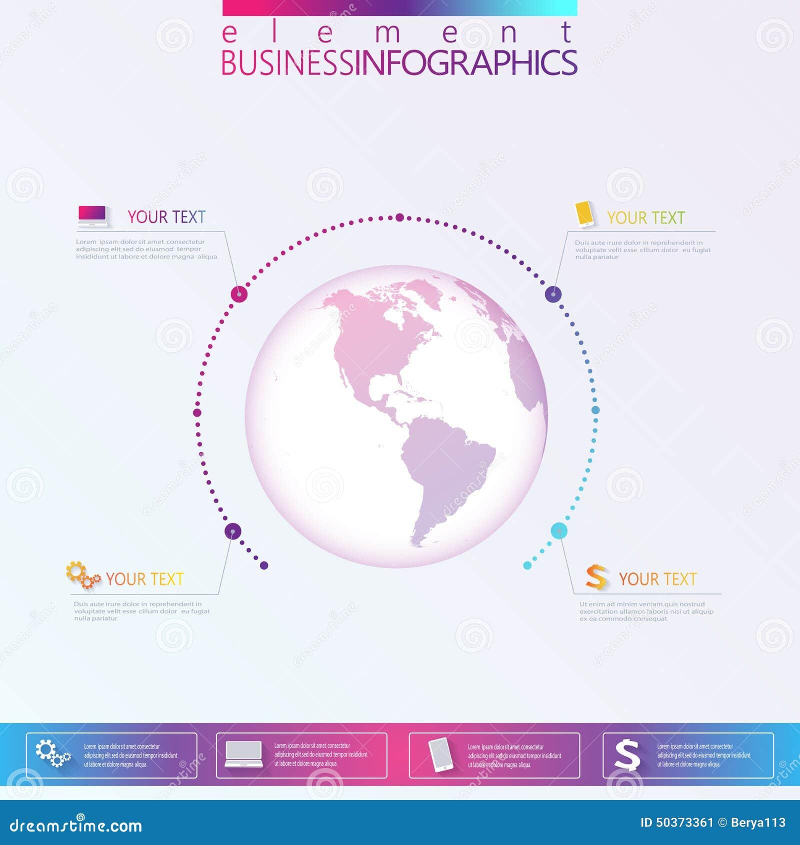 Calibre moderne de réseau du résumé 3D infographic avec l endroit pour votre texte Peut être employé pour la disposition de dérou