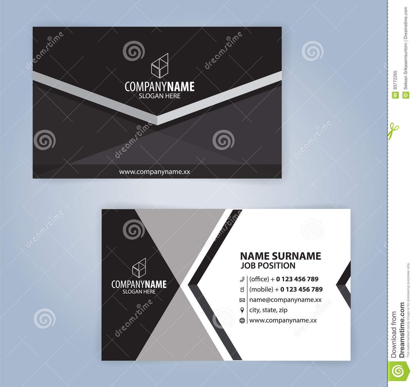 Download Calibre Moderne Noir Et Blanc De Carte Visite Professionnelle Illustration Vecteur