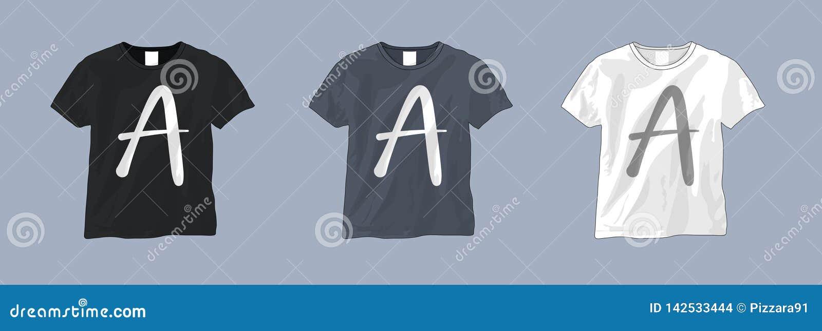 Calibre noir et blanc de T-shirt
