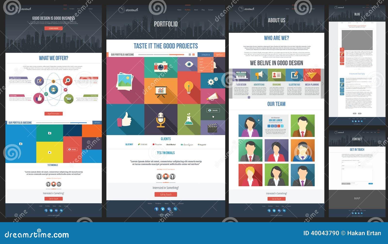 Calibre plat de site web page d 39 accueil portfolio for Site web de houseoftheweek