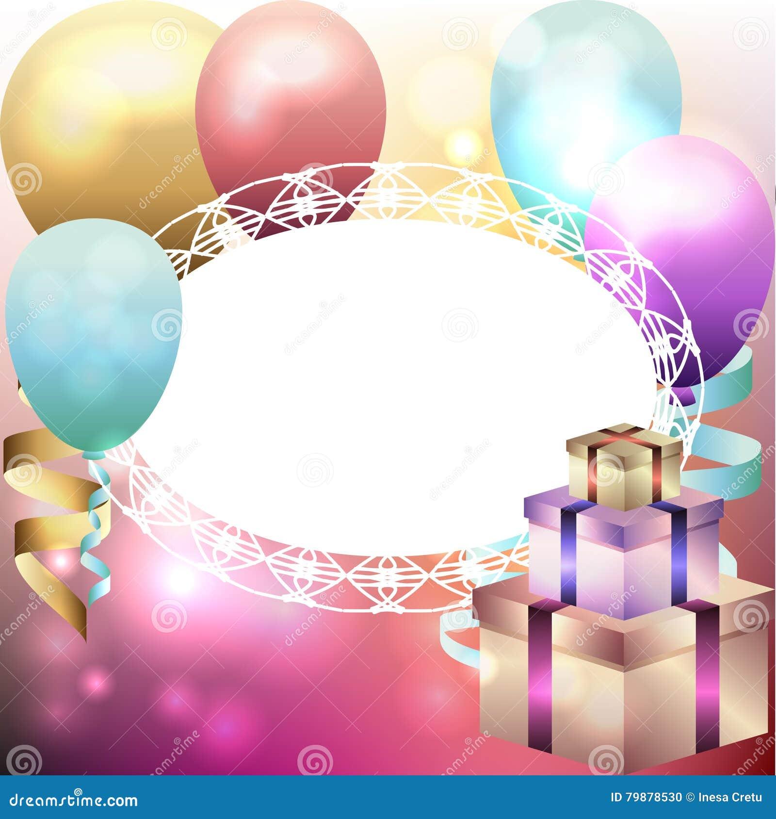 Souvent Calibre Pour L'invitation, Carte D'anniversaire Avec Le Cadre  YW79