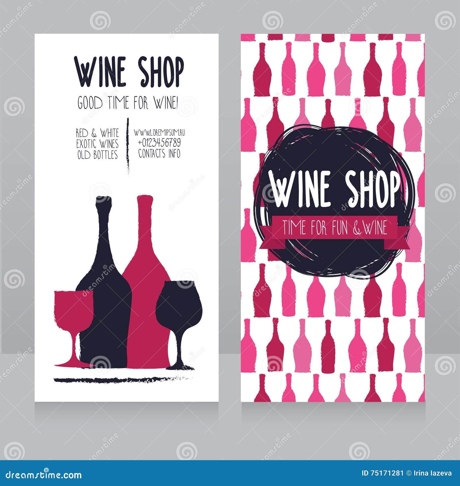 Calibre Pour La Carte De Visite Professionnelle Boutique Vin