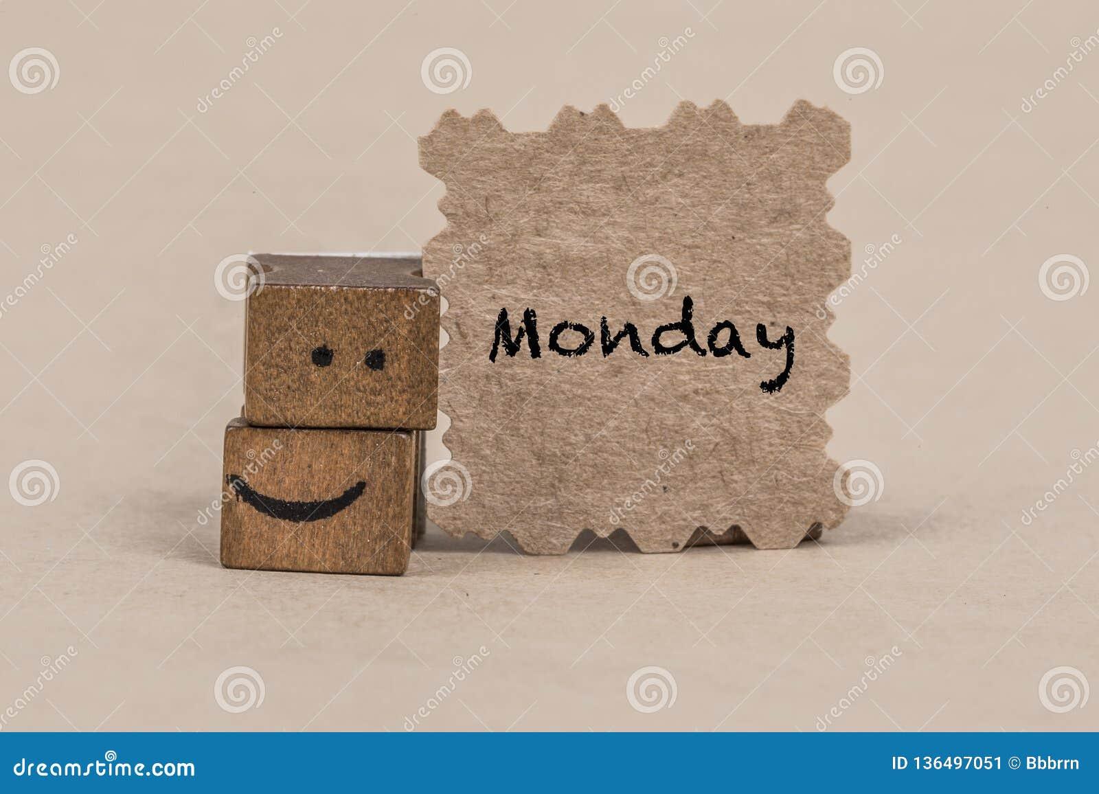 Calibre pour lundi avec une icône souriante