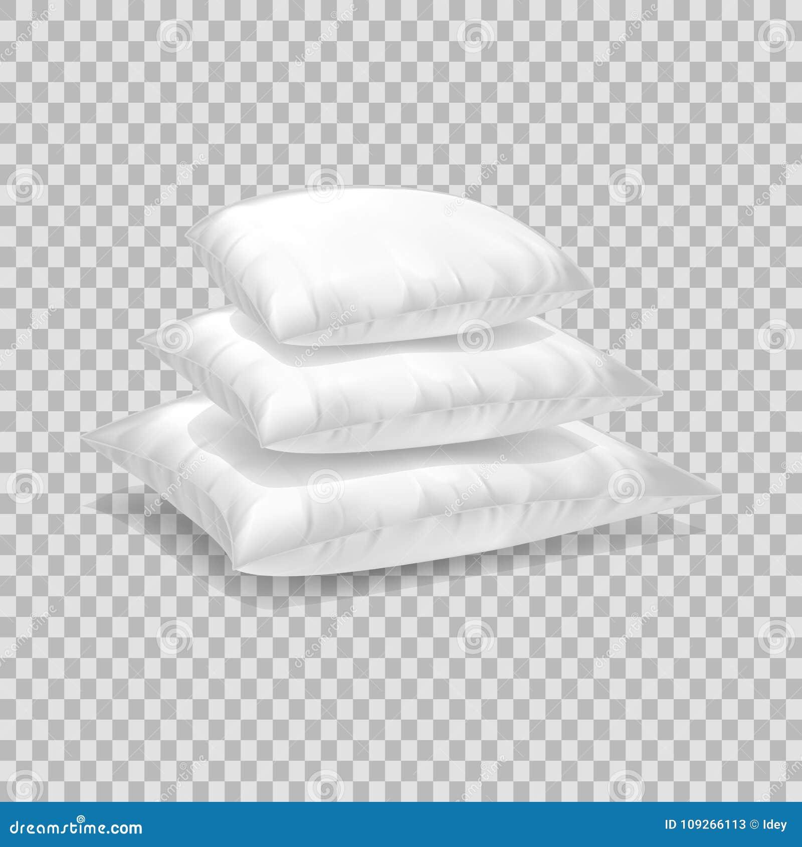 Calibre Realiste De Modele De L Oreiller Blanc Disposition Blanche D