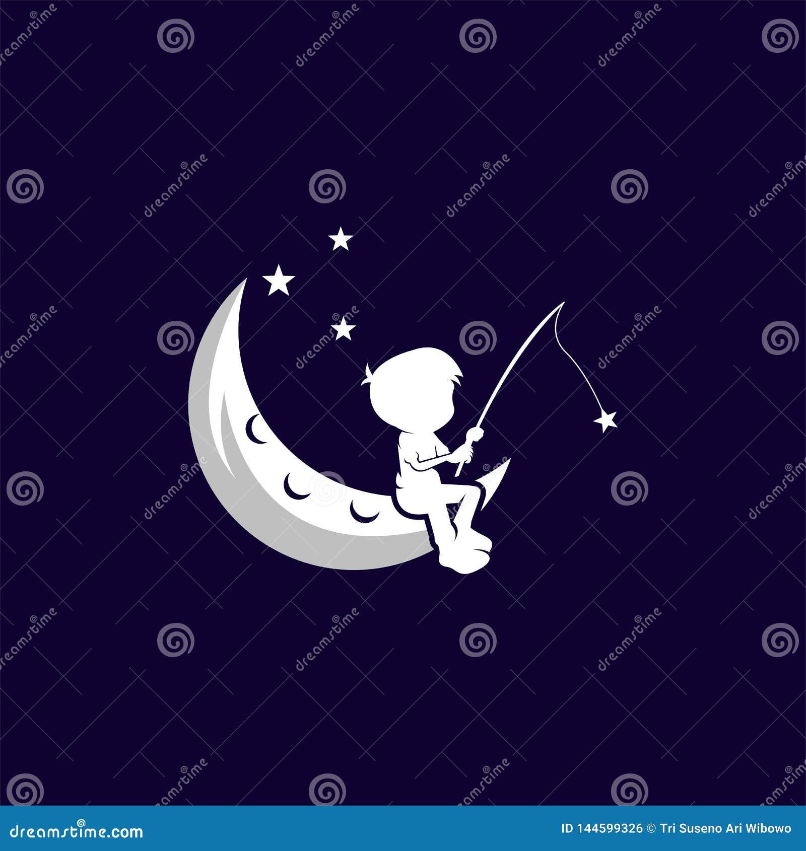 Calibre rêveur d illustration de conception de vecteur d enfant