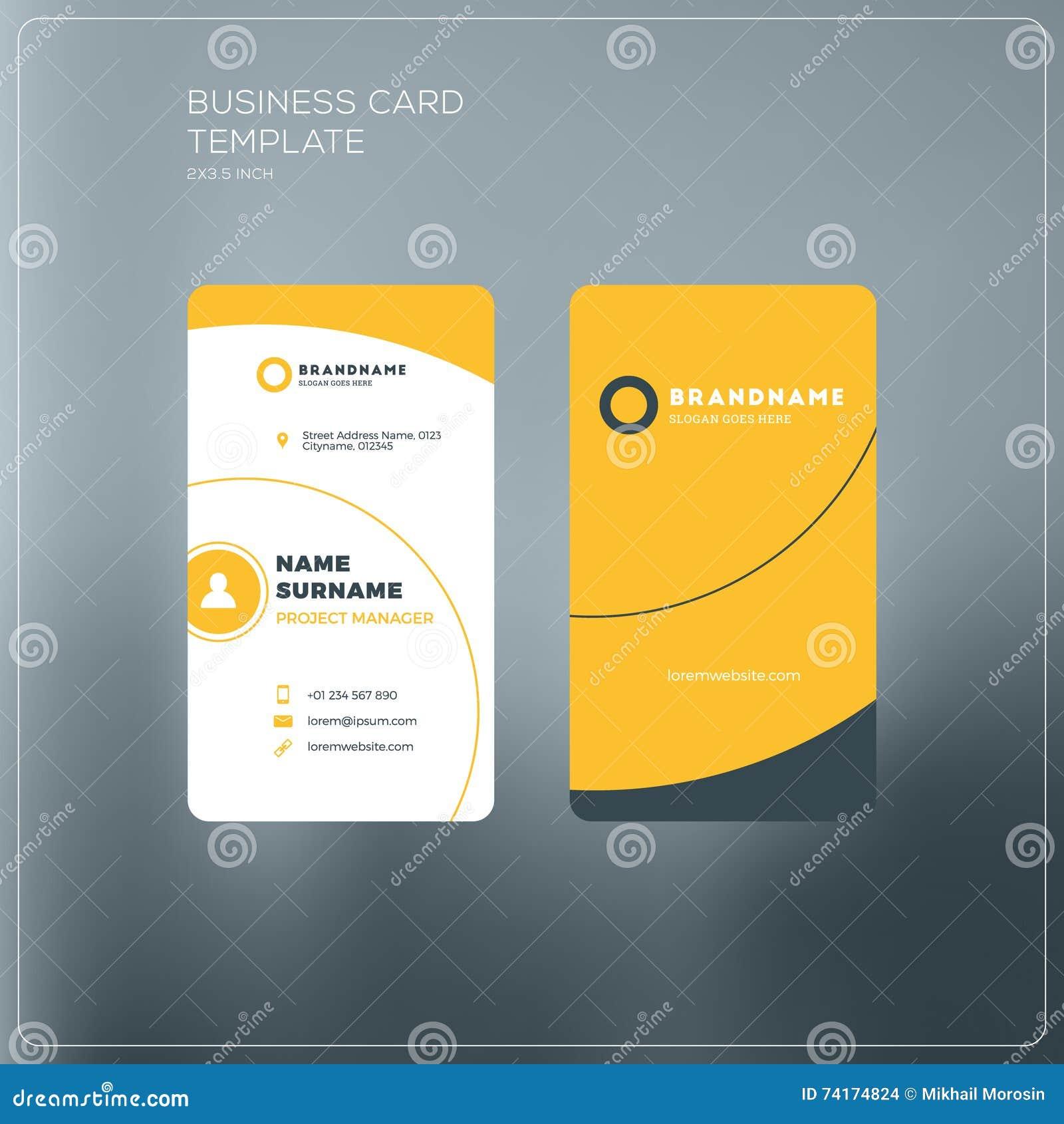 Calibre Vertical D Impression De Carte De Visite Professionnelle De