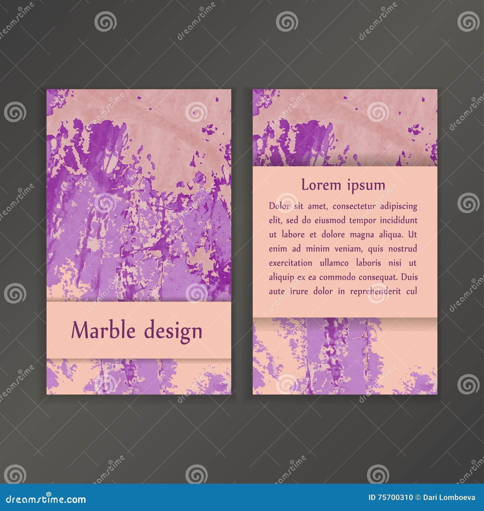 Calibres Creatifs Abstraits De Carte Mariages Menu Invitations Anniversaire Cartes Visite Professionnelle Avec La Texture Marbre Dans