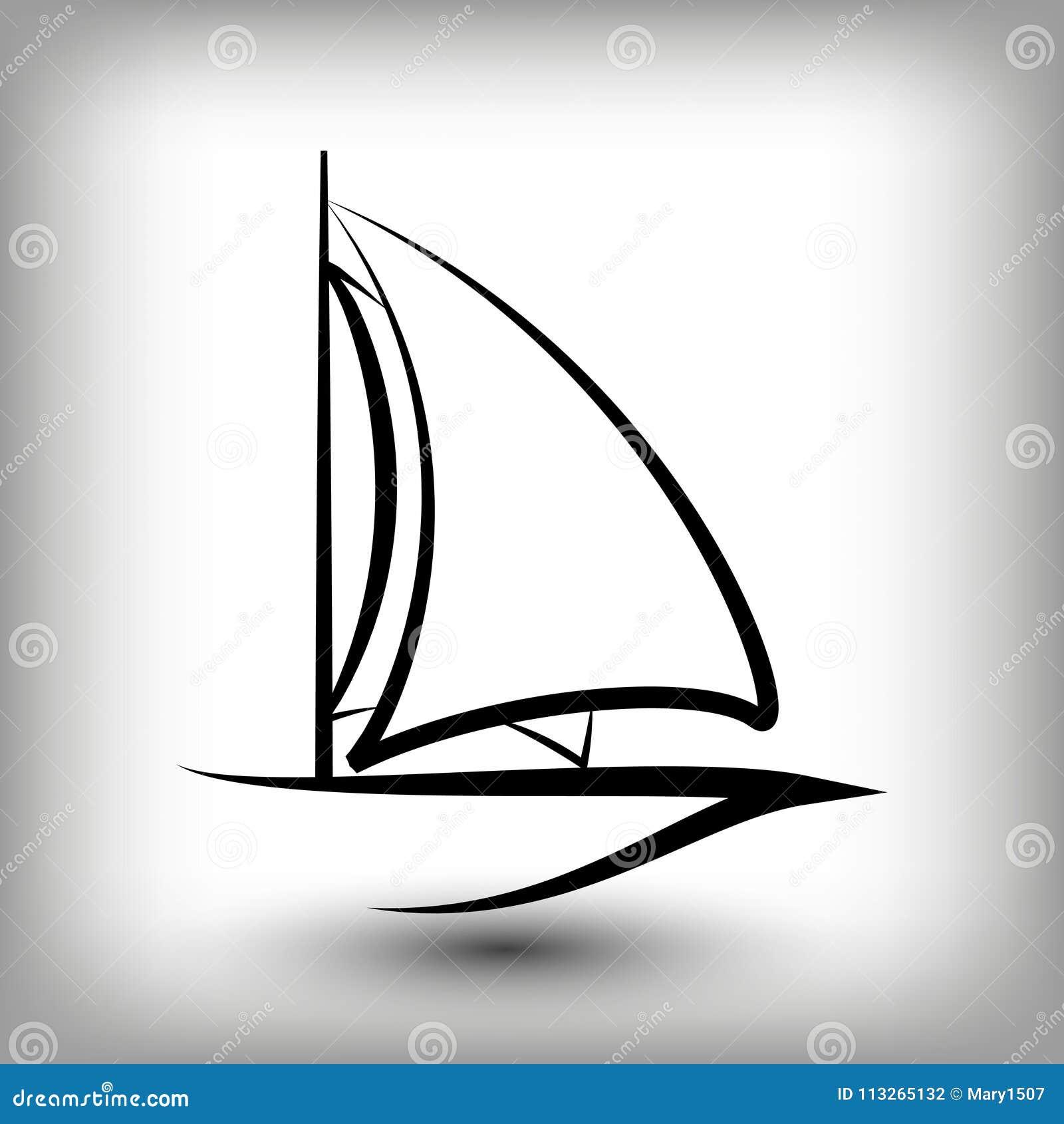 Calibres De Logo De Yacht Silhouettes De Bateau A Voile Illustration De Vecteur Illustration Du Logo Calibres 113265132