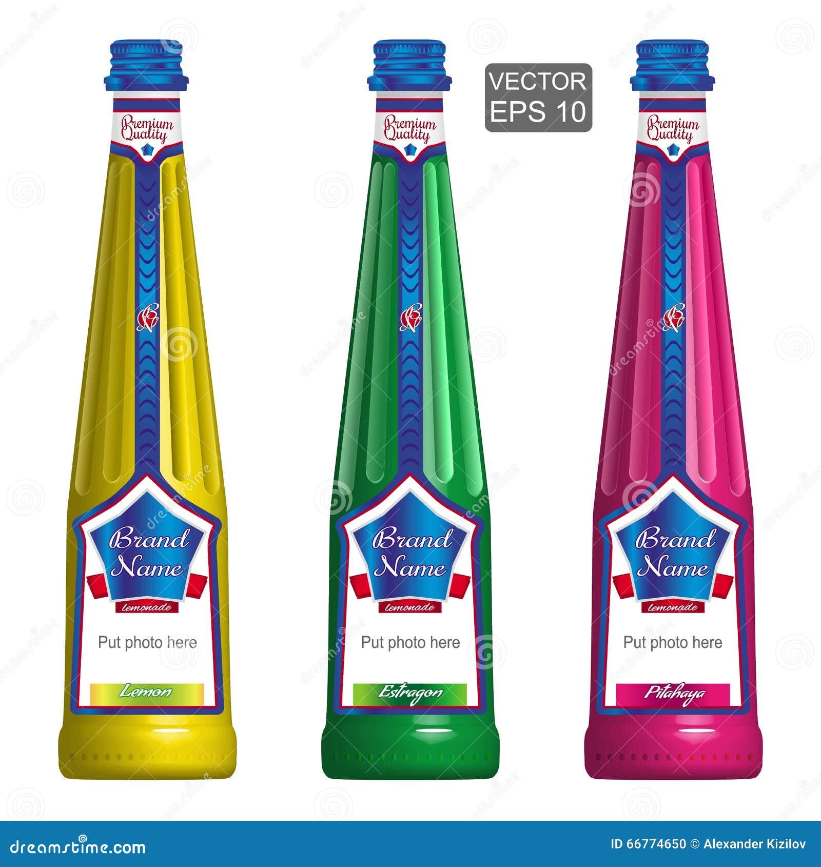 Calibres des bouteilles élégantes