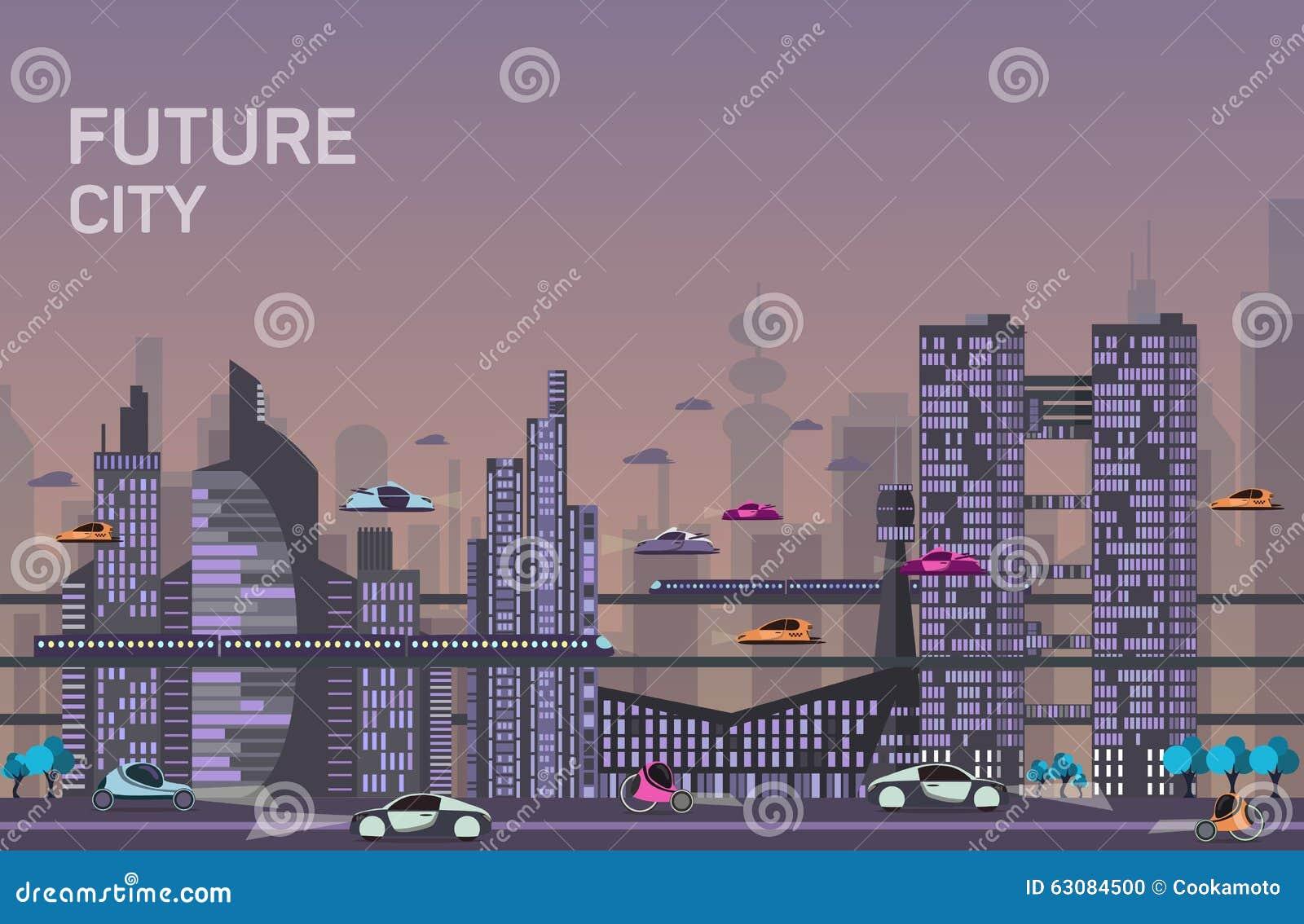 Download Calibres Urbains Occupés De Paysage Urbain Illustration de Vecteur - Illustration du constructions, environnement: 63084500