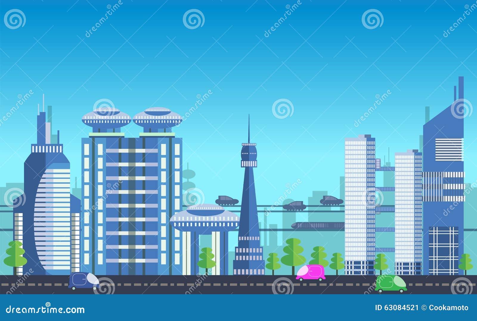 Download Calibres Urbains Occupés De Paysage Urbain Illustration de Vecteur - Illustration du affaires, conception: 63084521