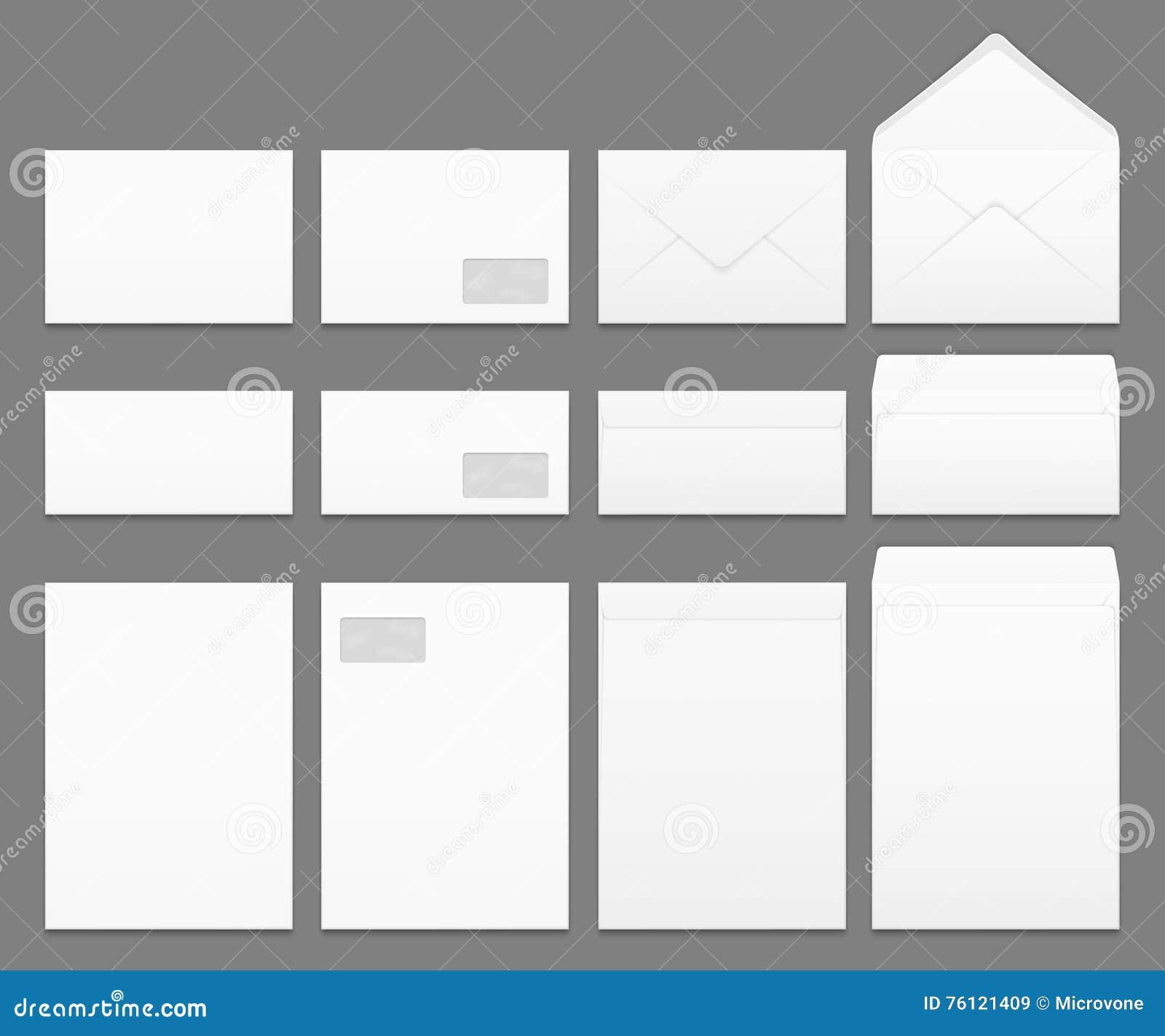 Calibres Vides De Vecteur D Enveloppes De Livre Blanc Regles