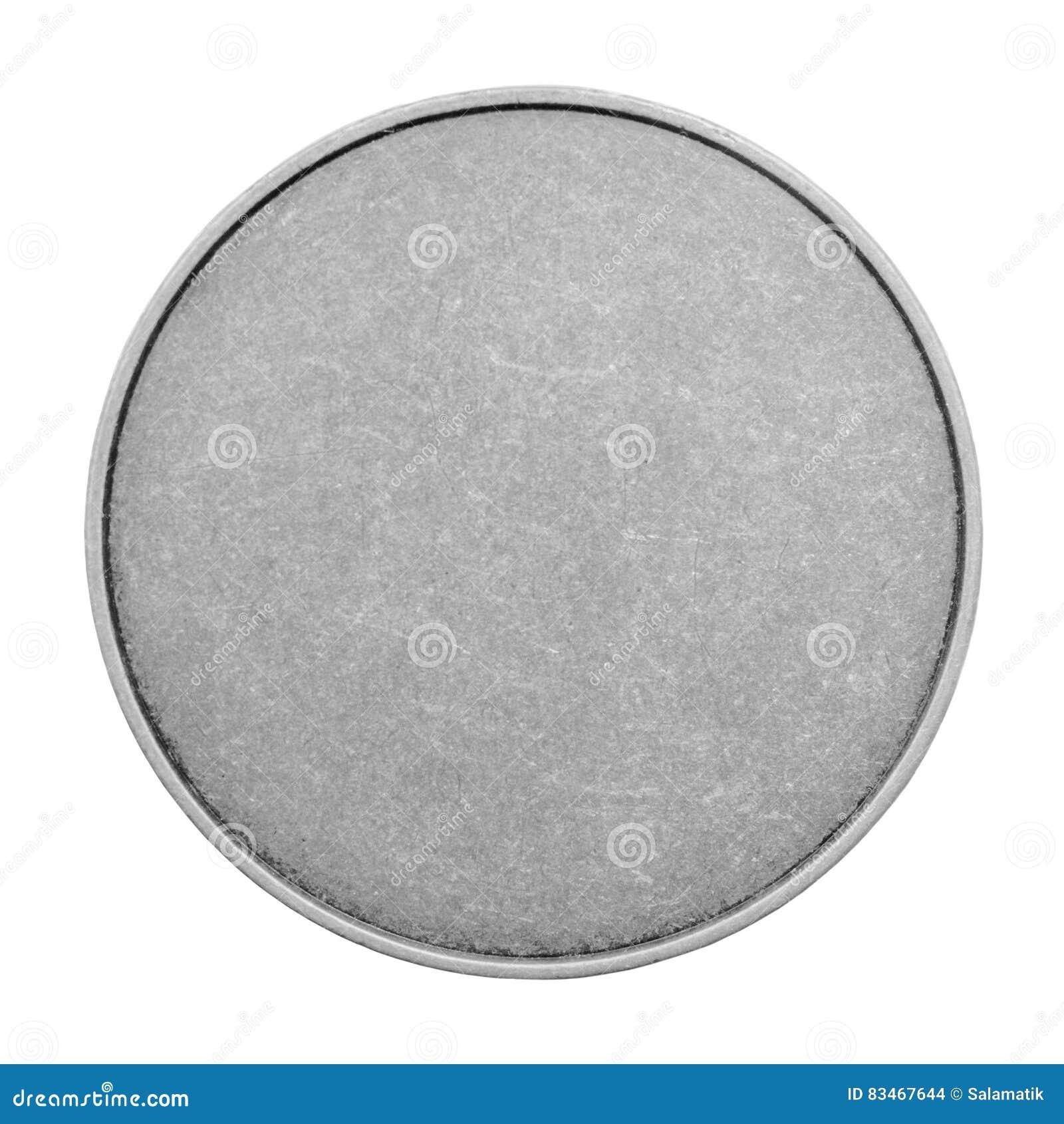 Calibres vides pour des pièces de monnaie ou médailles avec la texture en métal Argent