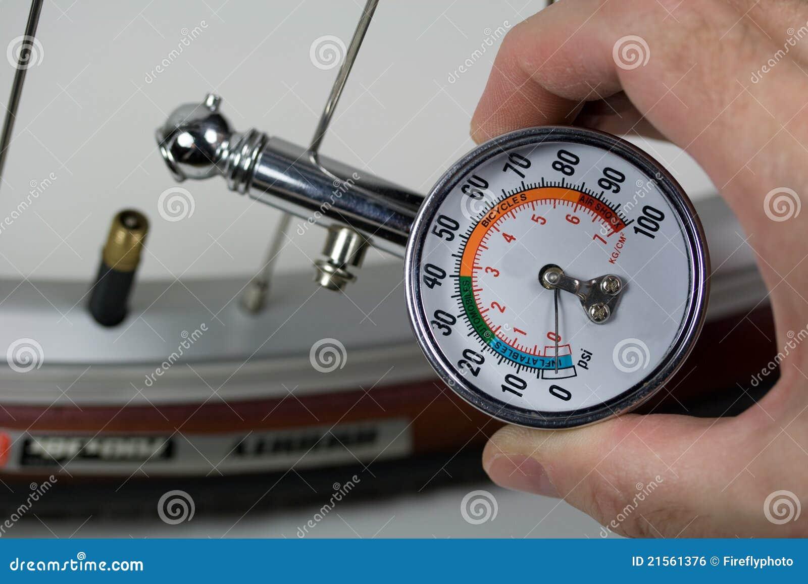 Calibro di pressione d aria e gomma della bicicletta