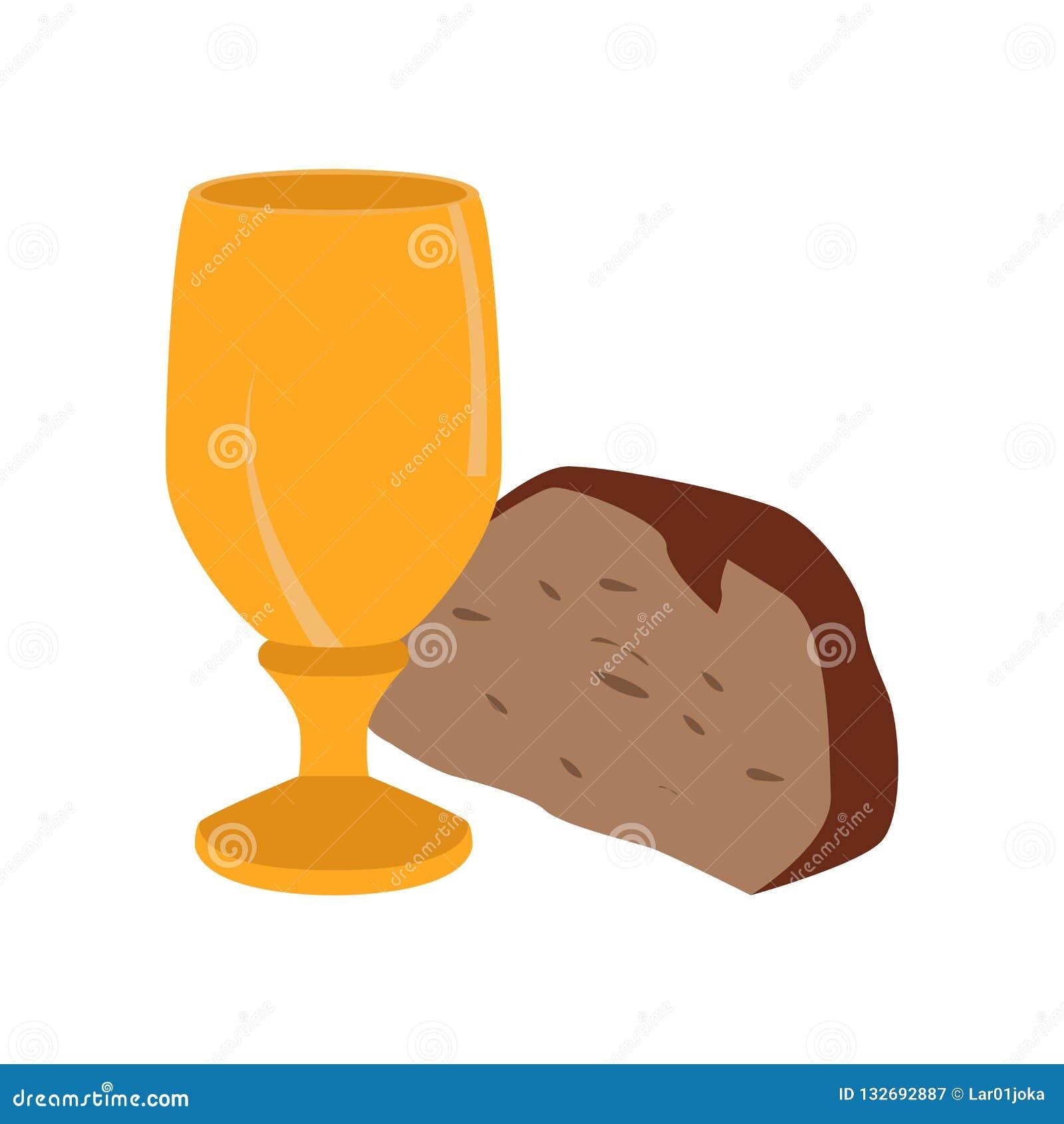 Calice avec le morceau de pain