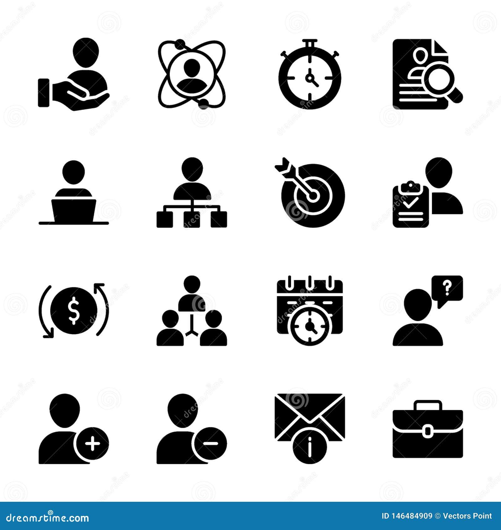 Calidad personal, vectores sólidos de la gestión del empleado