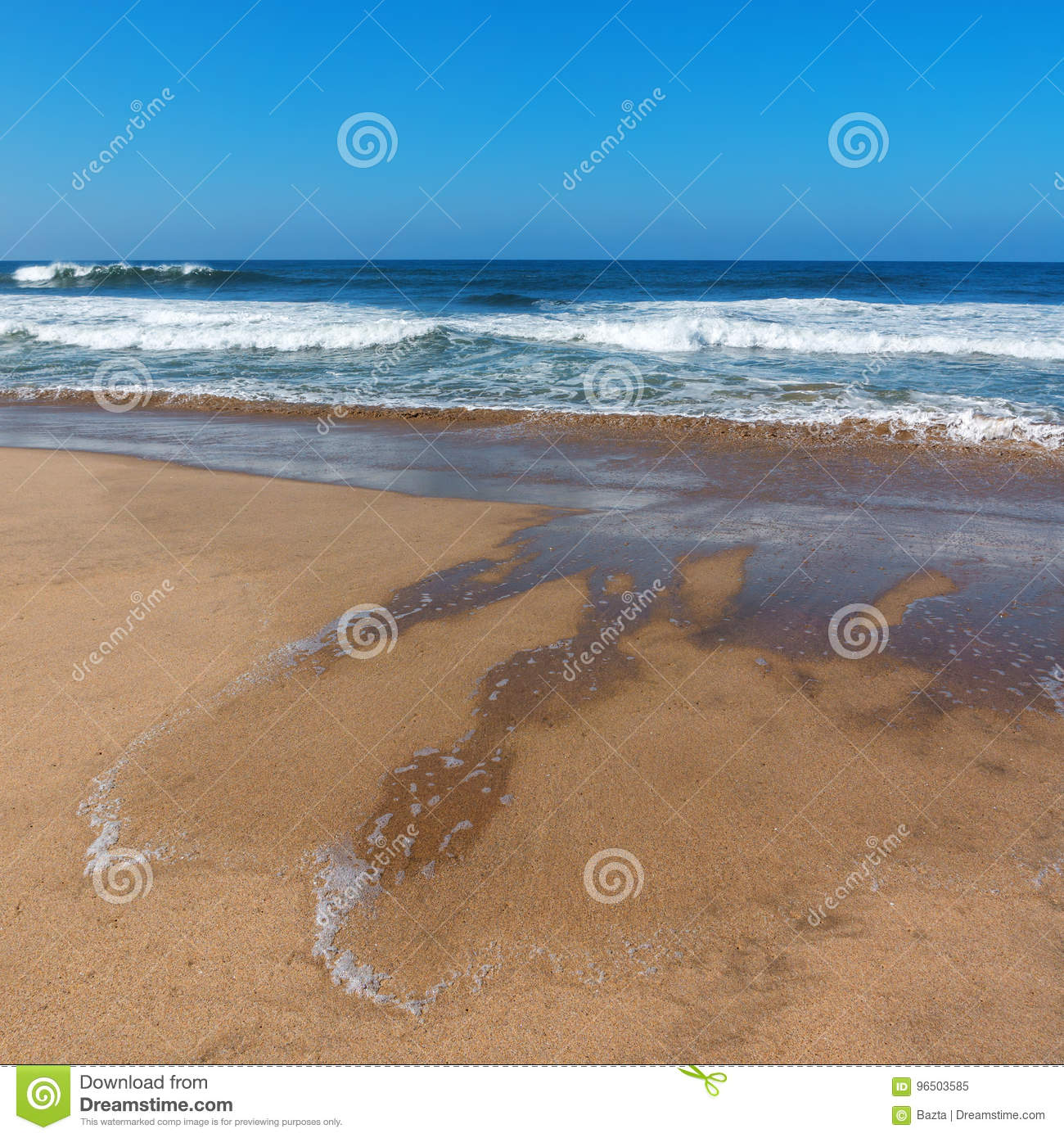 California Beaches Near Los Angeles City With A Clear Blue Sky And
