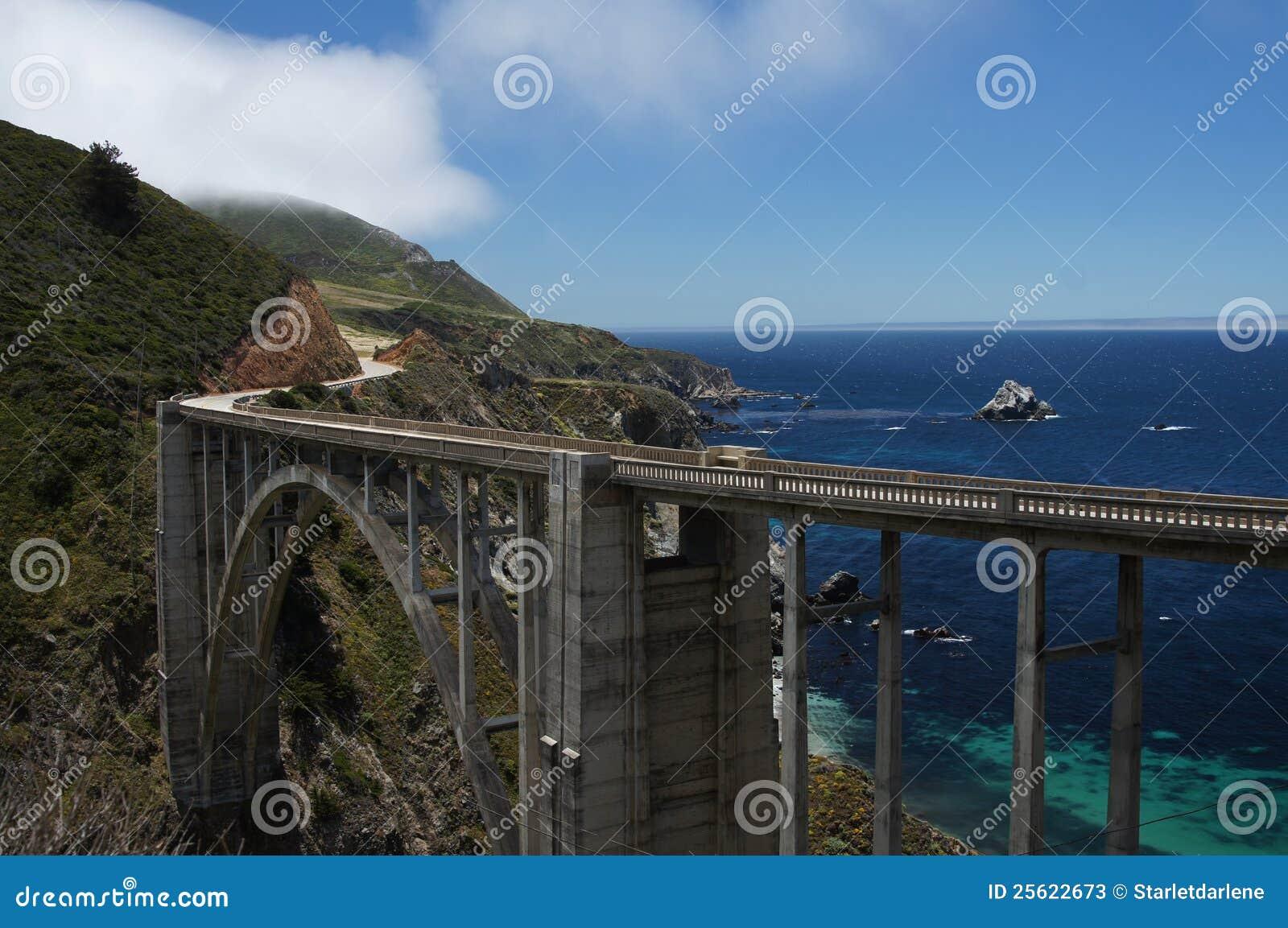 California bixby bridżowy wybrzeże