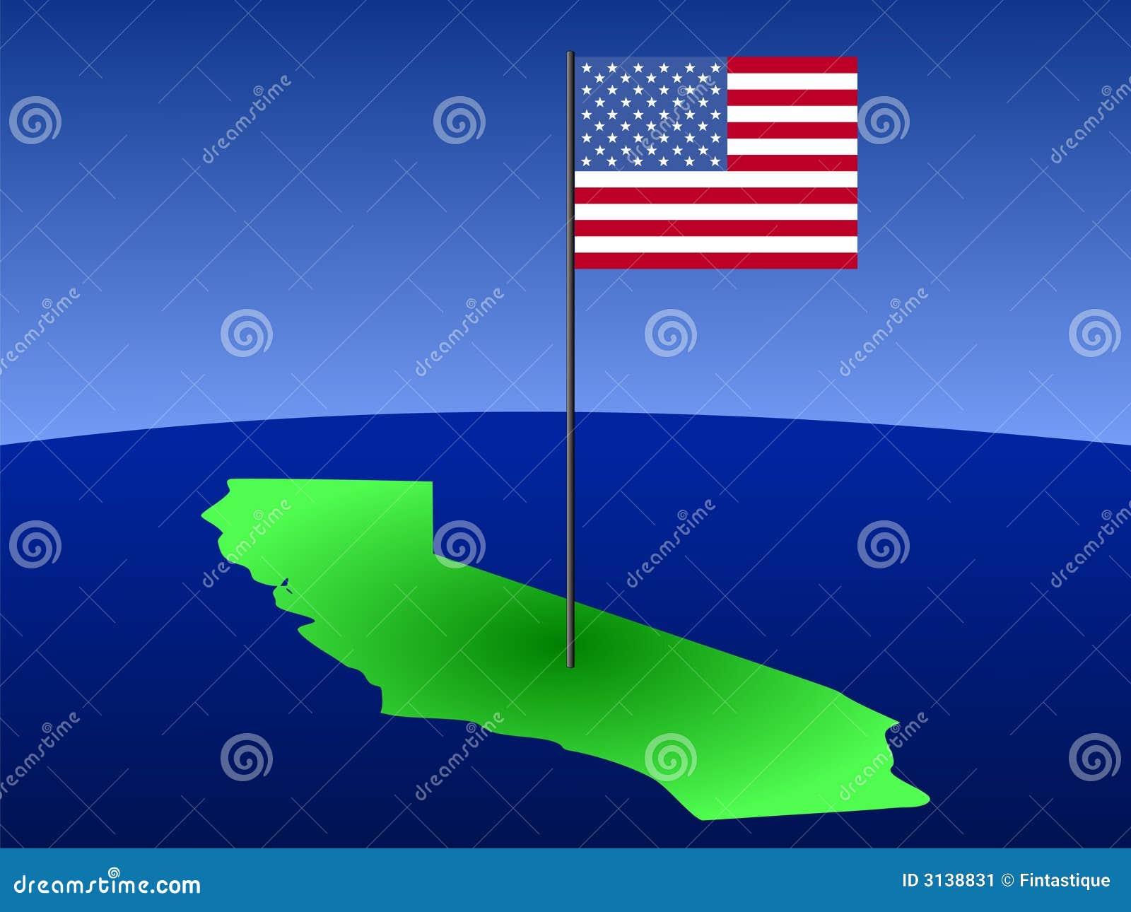 California con la bandiera americana