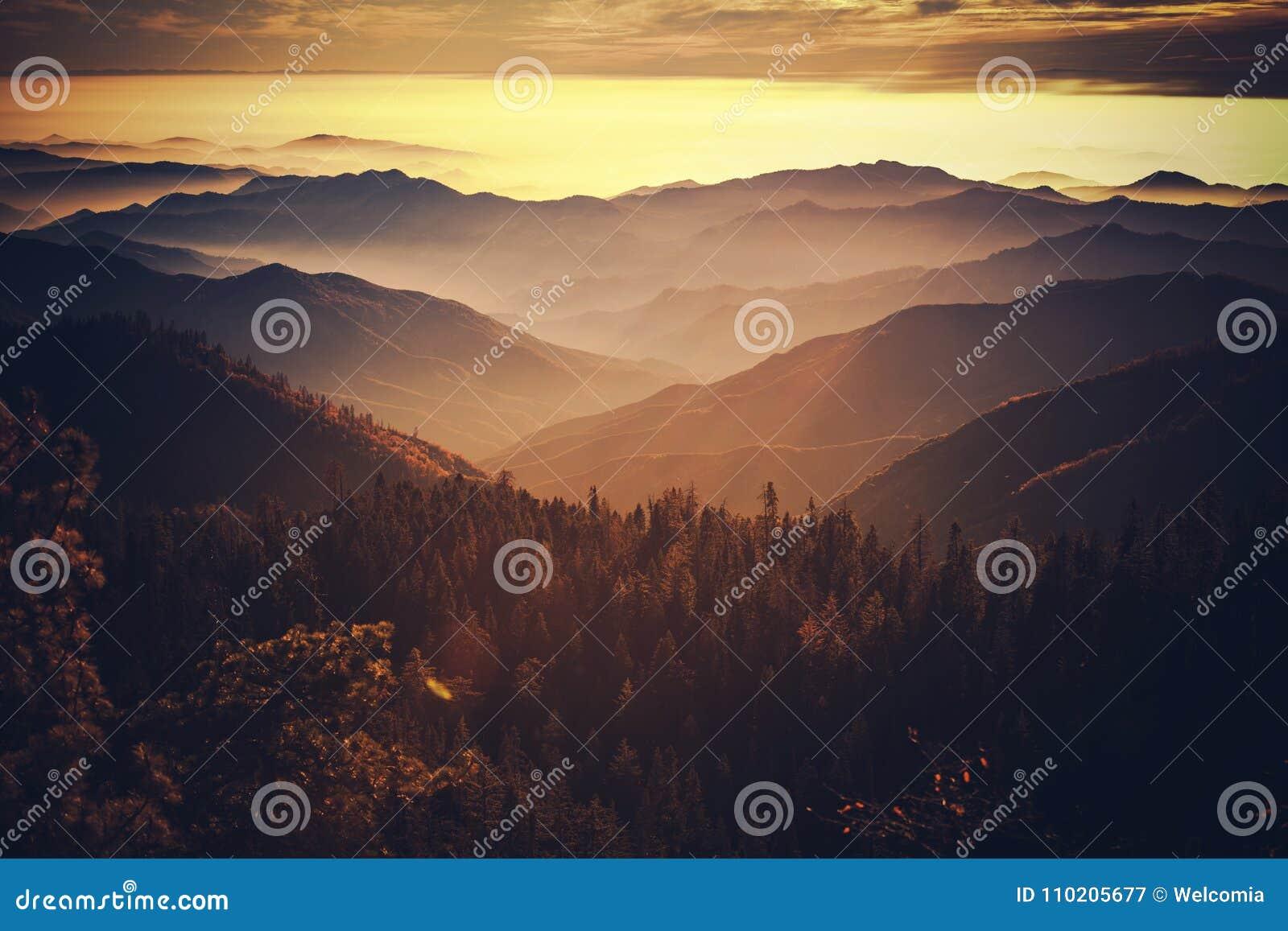 California escénica Sierra Nevada