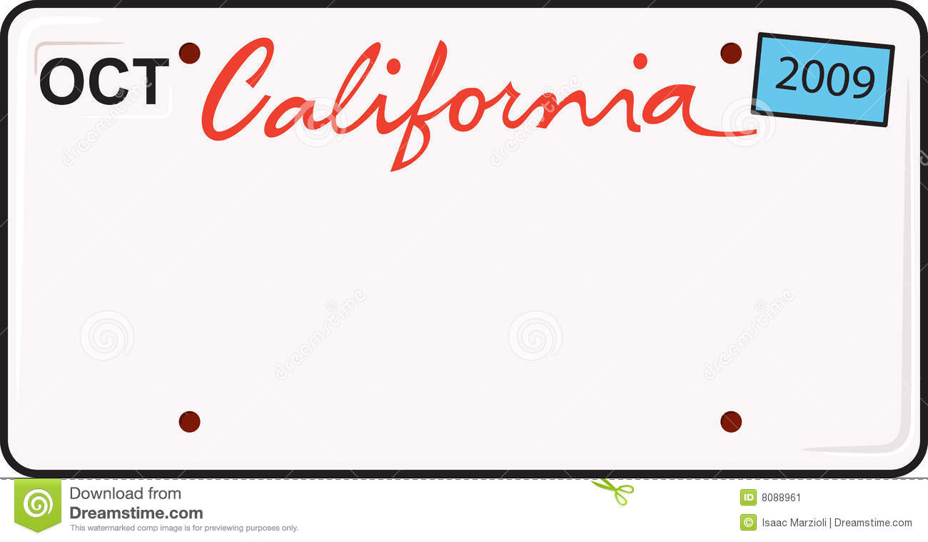 california license plate stock vector illustration of illustrate