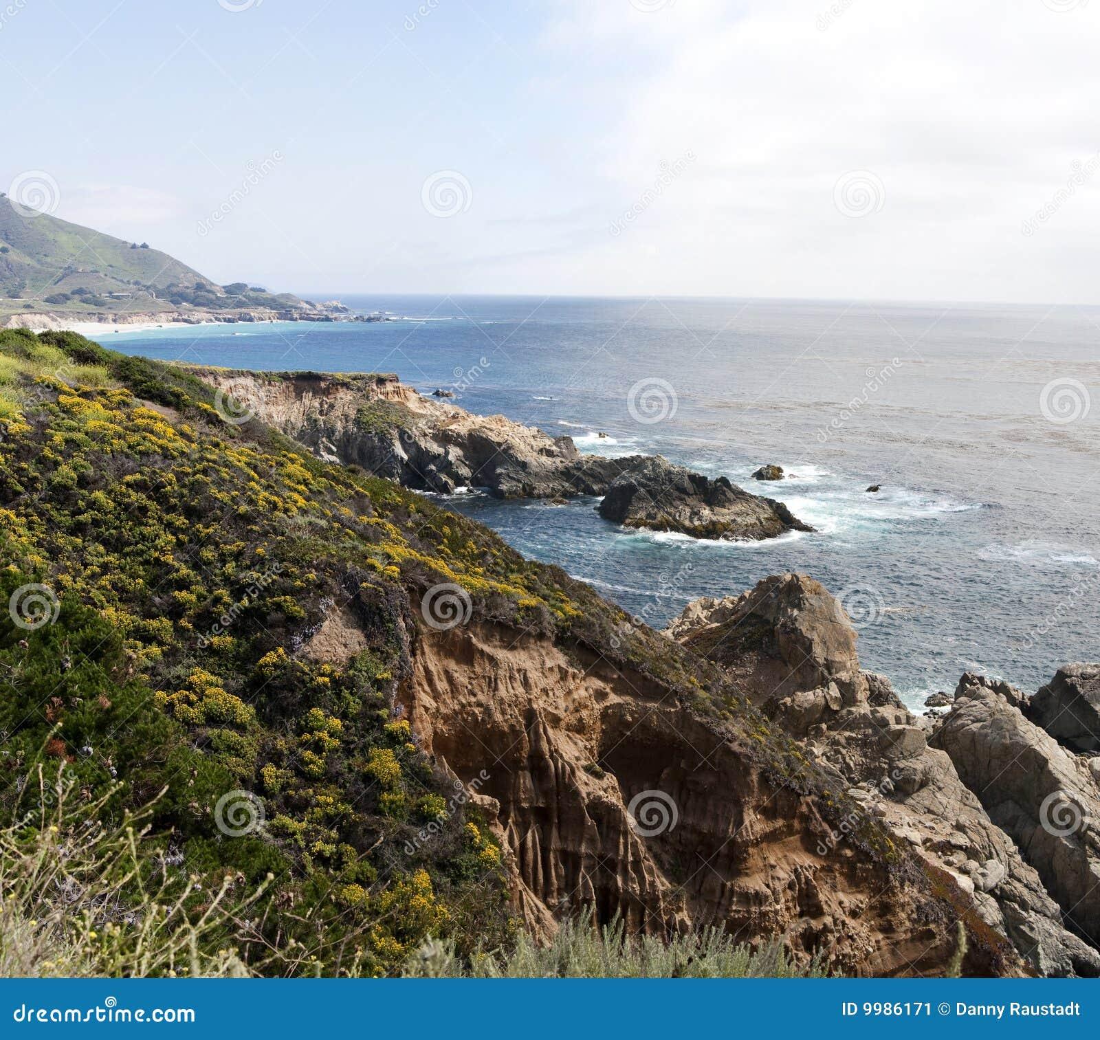 Southern California Pacific Ocean. Stock Photo - Image of ...  |Pacific Ocean California