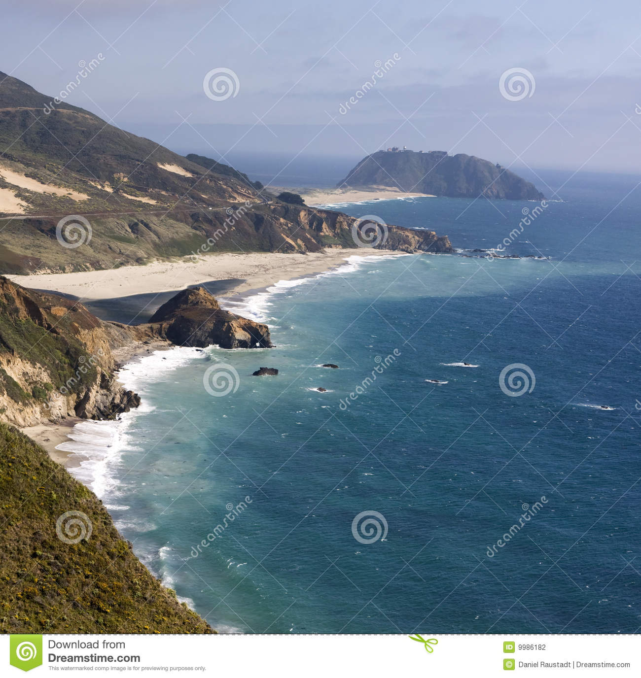 West Coast View Of The Pacific Ocean In Southern ...  |Pacific Ocean California