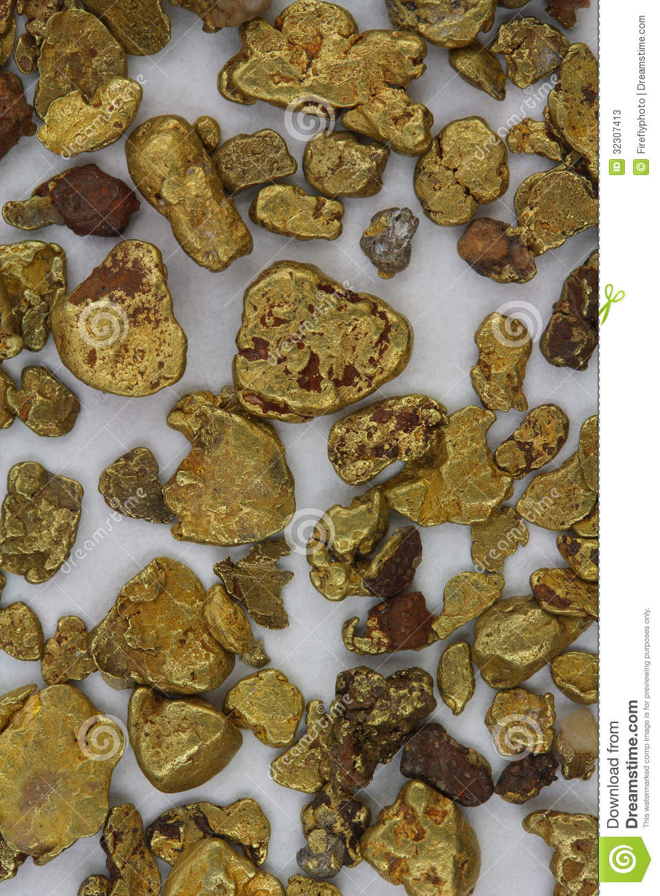 California Placer Gold Nuggets Stock Image - Image of placer, dust