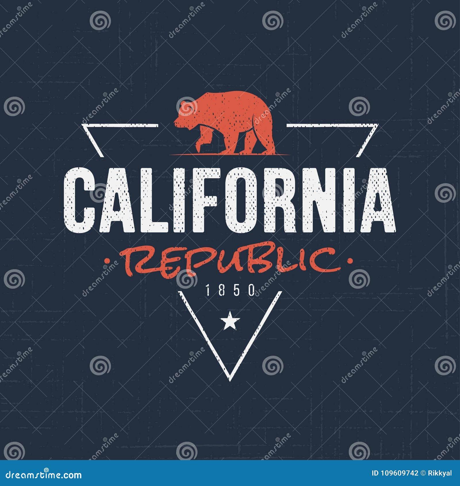 b1312880a California Republic. T-shirt And Apparel Design Stock Vector ...