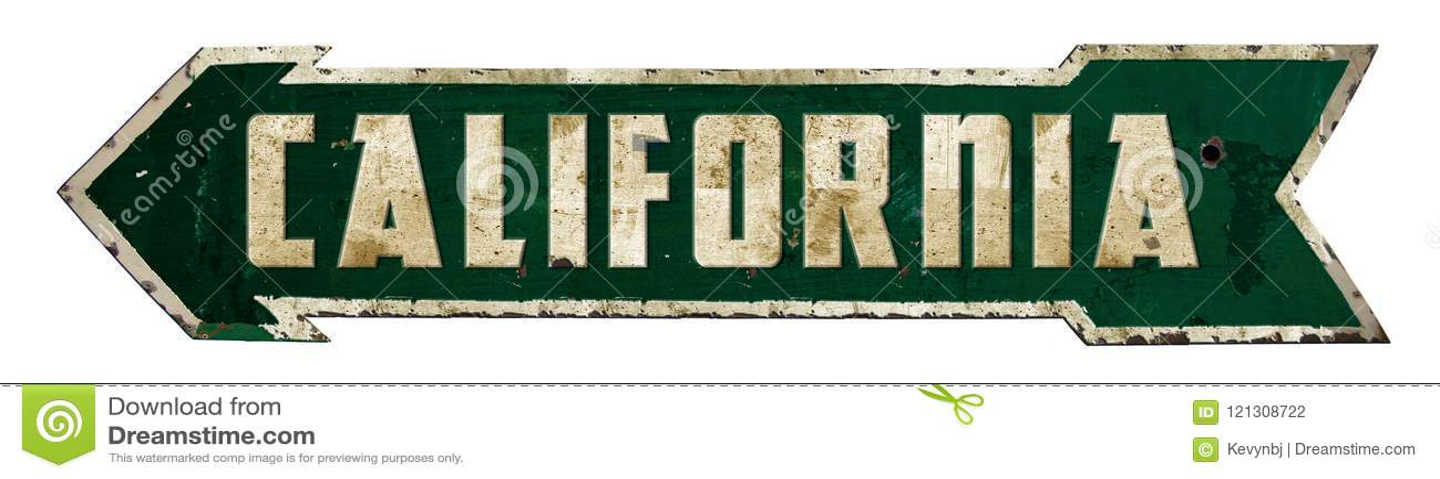 California Retro Sign Arrow