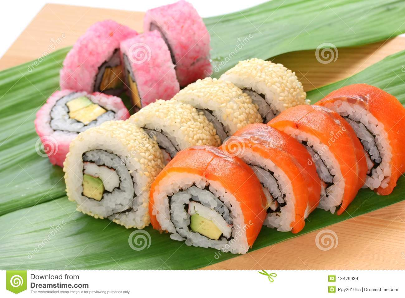 California Rolls , Maki Sushi , Japanese Food Stock Images - Image ...
