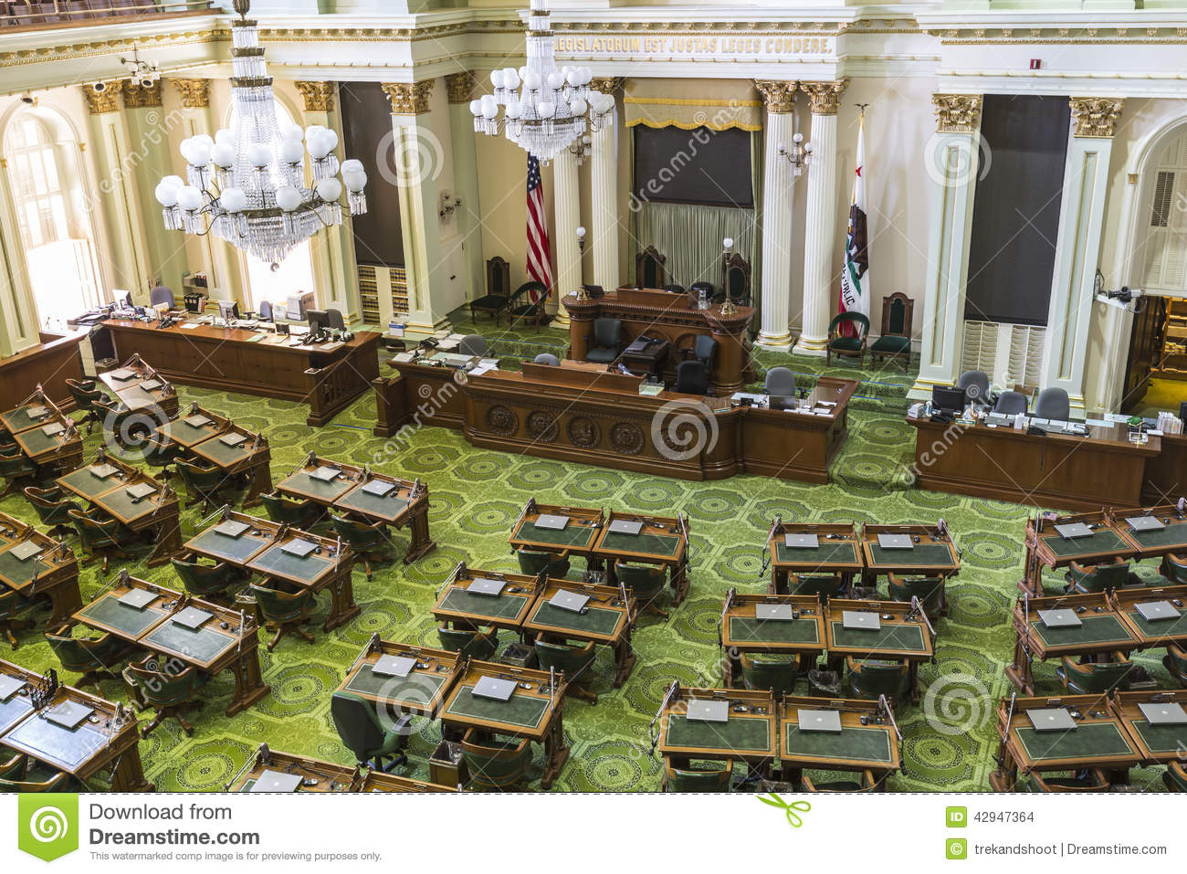 California State Capitol Assembly Meeting Room Editorial