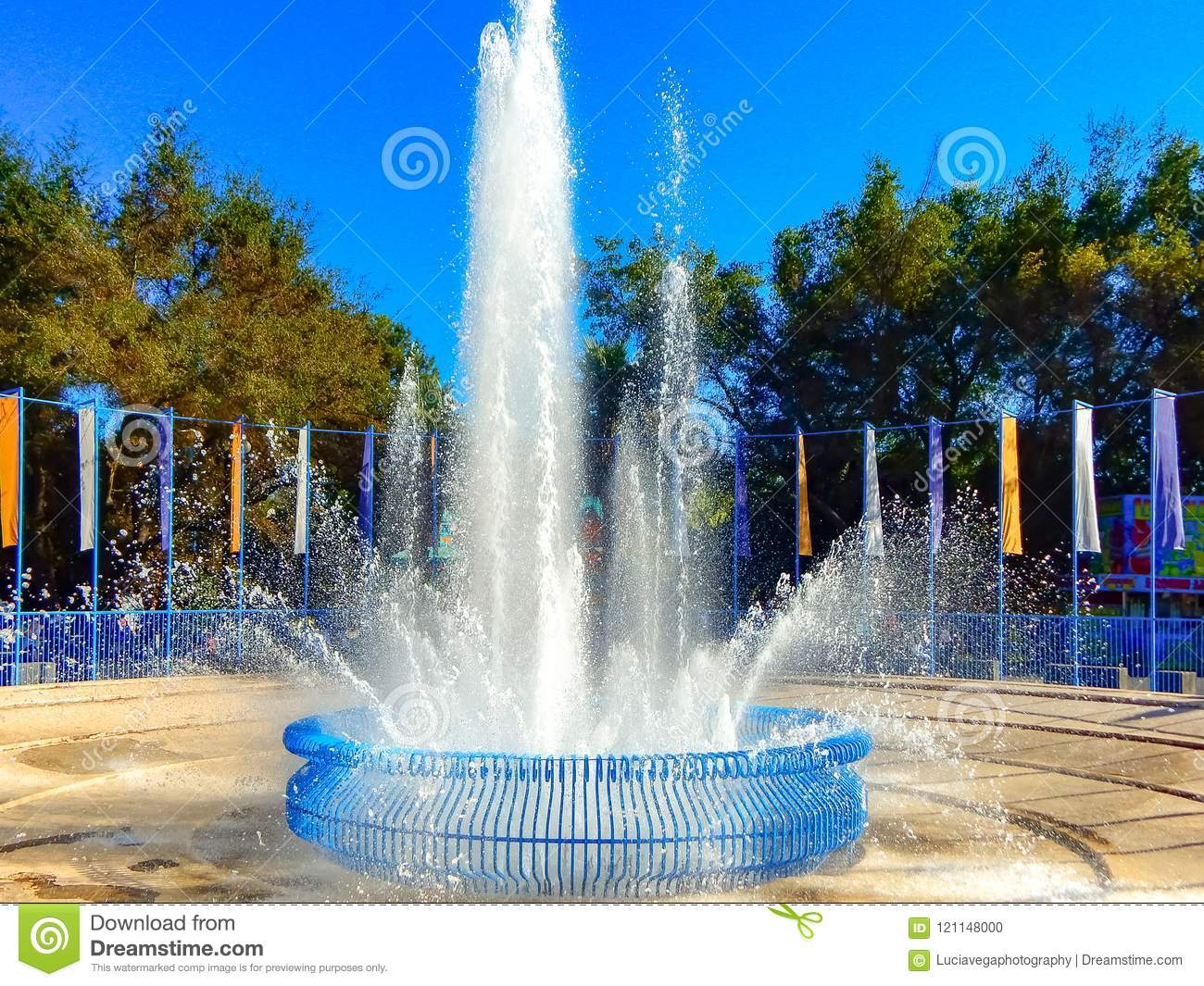 California State Fair Towering Fountain Stock Photo - Image