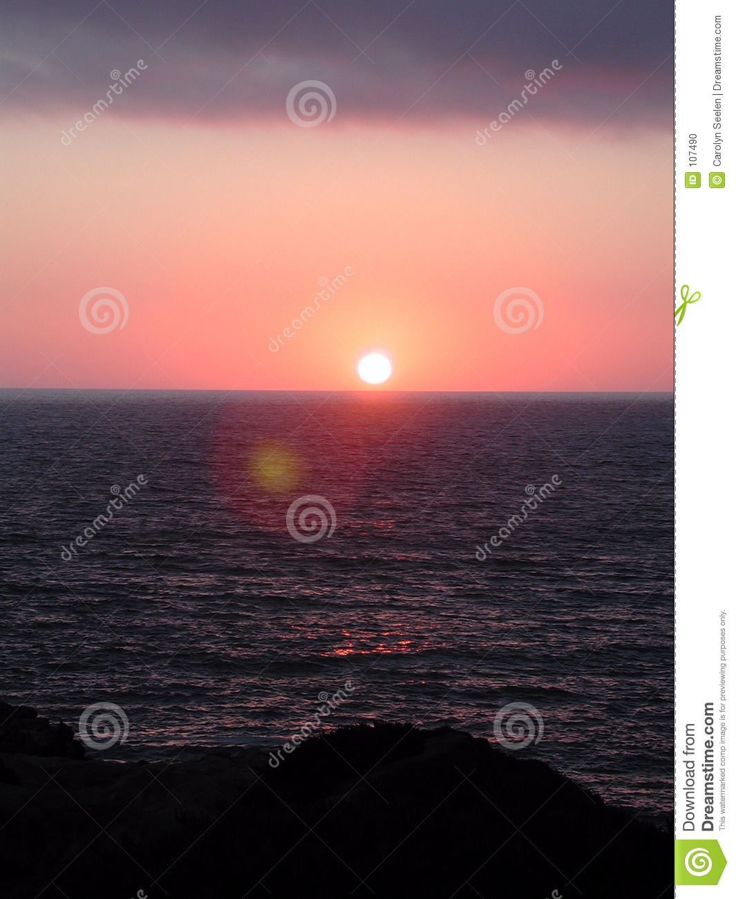 Download California Sunset stock photo. Image of northwest, ocean - 107490