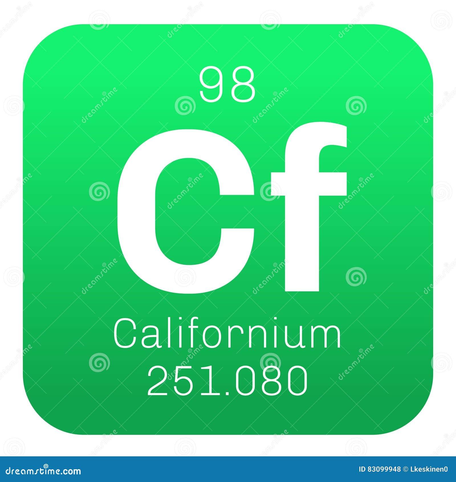 Californium chemical element stock vector image 83099948 californium chemical element gamestrikefo Images