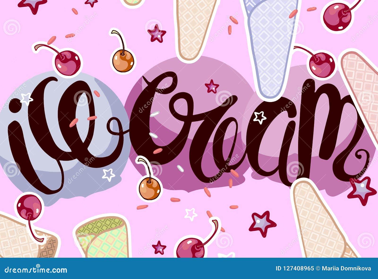 Caligrafía del helado