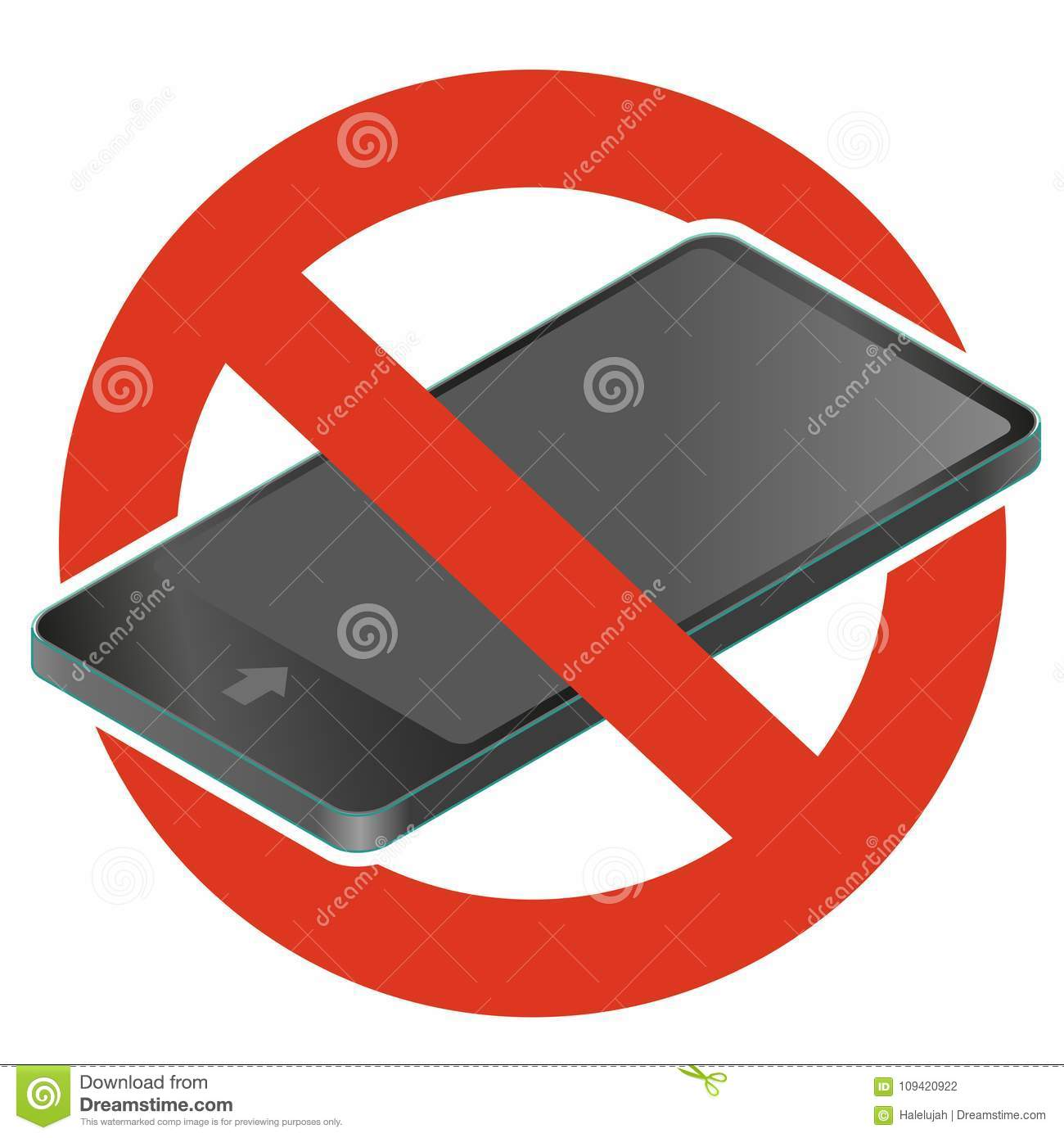 Call Barring  Prohibition Of Mobile Phone  Vector Strict Ban On