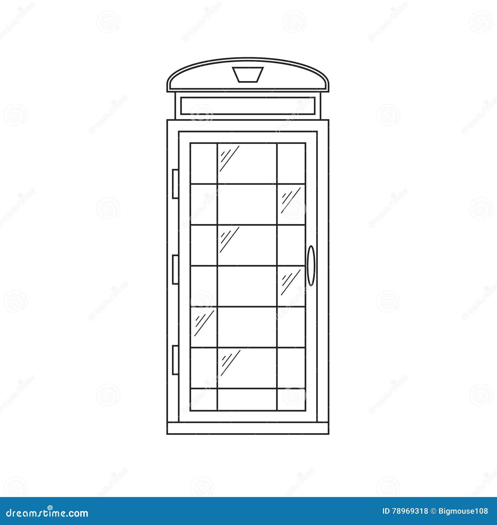 Call-Box London Thin Line. Vector
