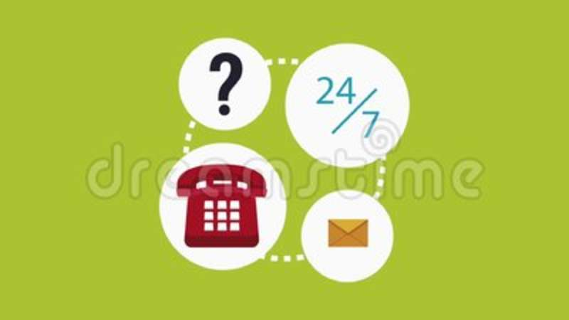 Call Center And Customer Service Hd Animation Stock Video Video Of