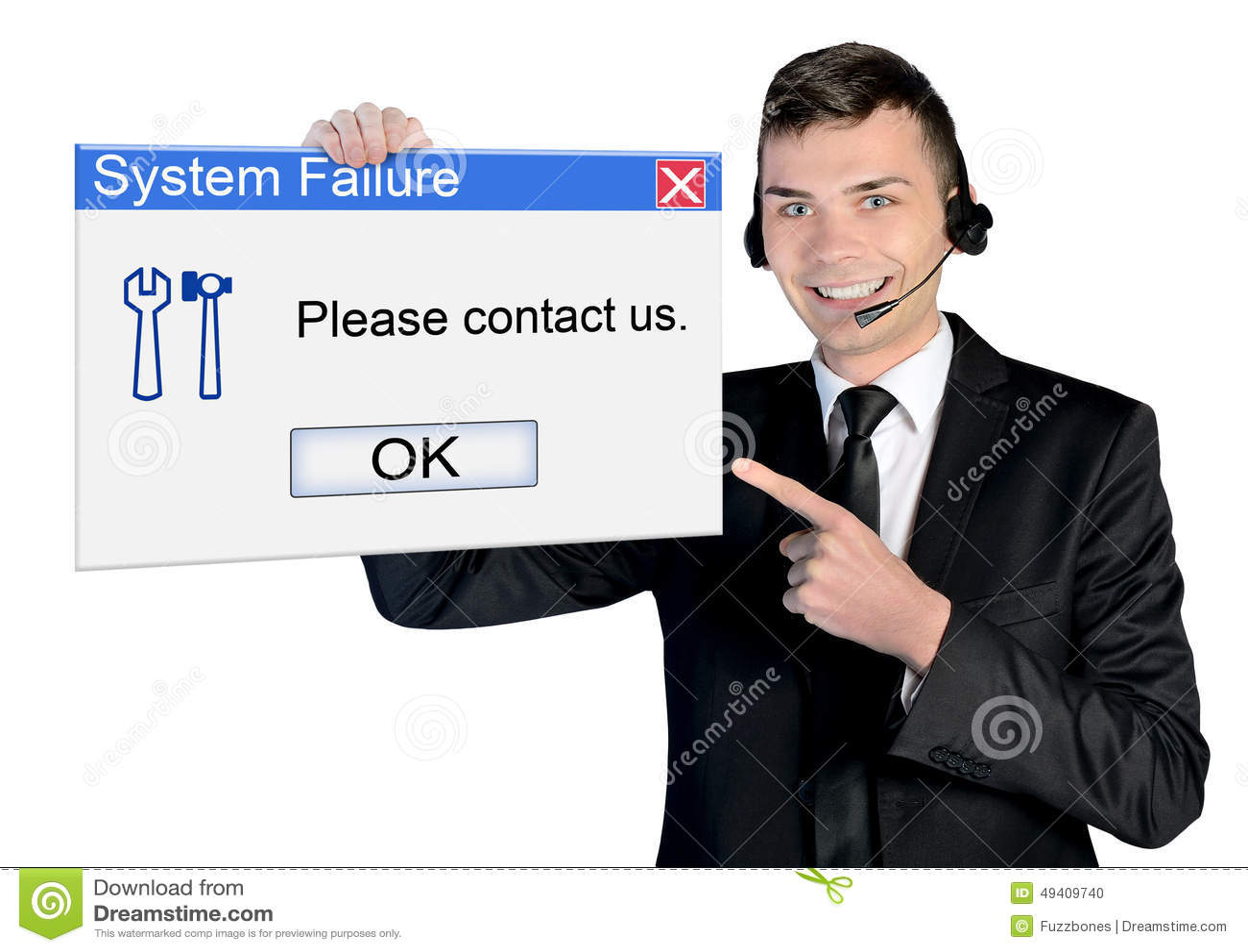 Download Call-Center-Mann stockfoto. Bild von unterstützung, helpline - 49409740