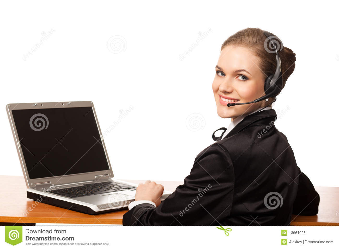 Call Center Operator Royalty Free Stock Image - Image: 13661036