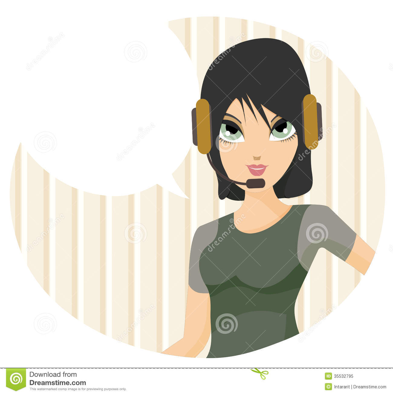 Call center stock vector  Illustration of agent, assistant