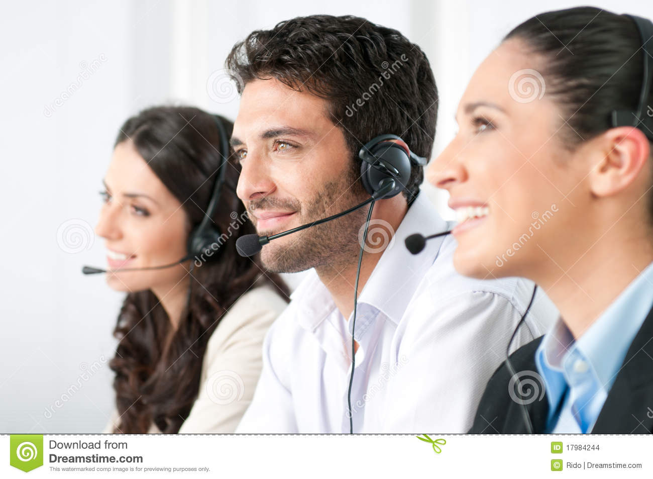 Call center team stock photo. Image of contact ...