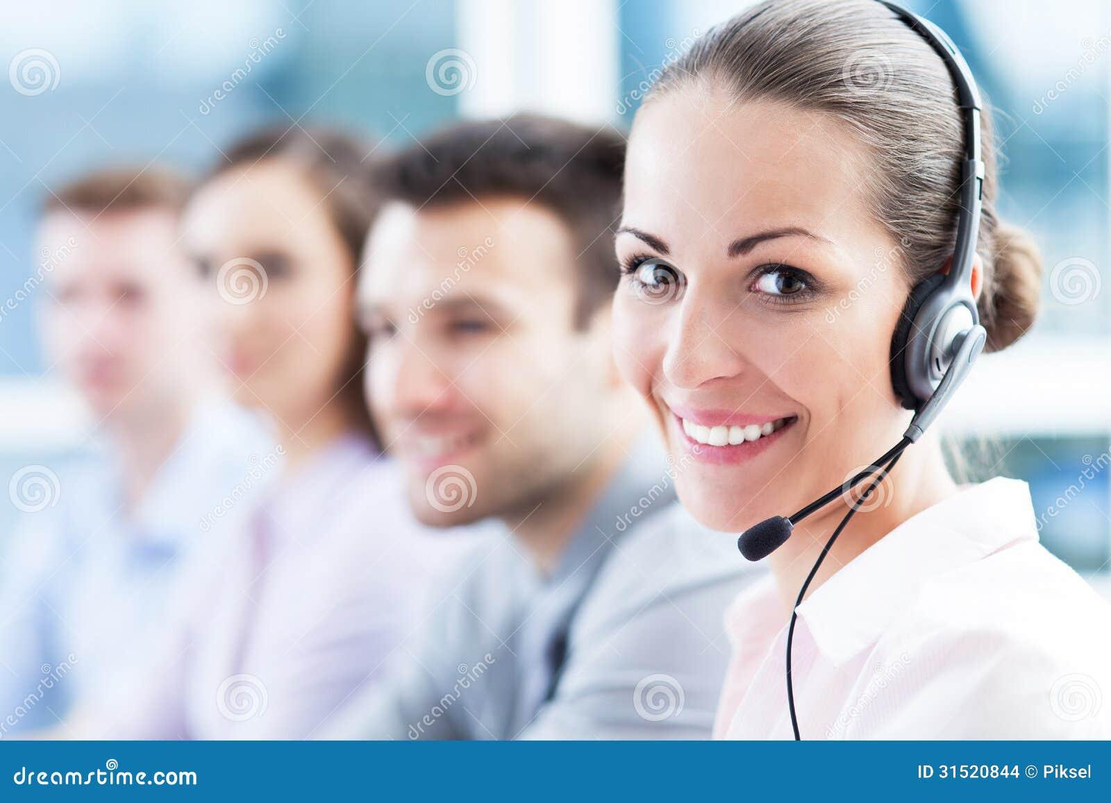 Call center team