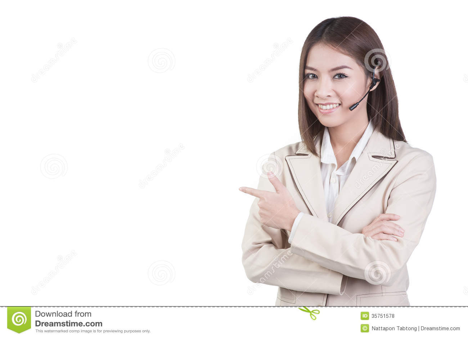 Call Center Woman Customer Service Operator Royalty Free Stock ...
